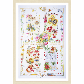 Four Seasons Counted Cross Stitch Kit By Lanarte