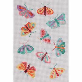 Maggie Magoo Moths & Butterflies starter Counted Cross Stitch Kit