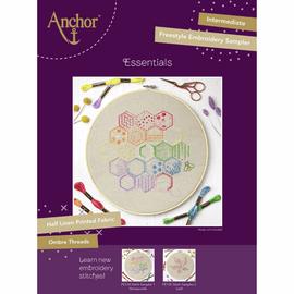 Embroidery Kit Essentials: Stitch Sampler 1 Honeycomb