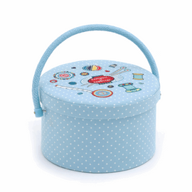 Sewing Box : Round: Embroidered: Contemporary Notions by Hobby Gift