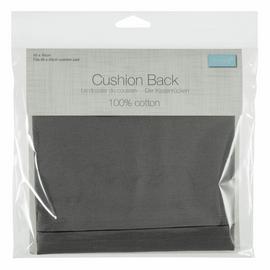 Cushion Back with Zipper: 45 x 45cm (18 x 18in): Grey