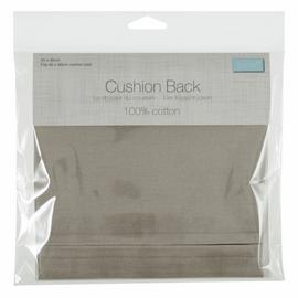 TCB4545\NAT: Cushion Back with Zipper: 45 x 45cm (18 x 18in): Natural