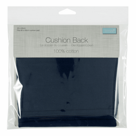 Cushion Back with Zipper: 45 x 45cm (18 x 18in): Navy