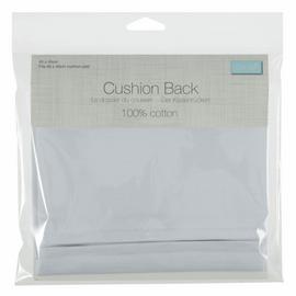 Cushion Back with Zipper: 45 x 45cm (18 x 18in): White