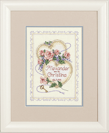 Mini Counted X Stitch: Wed/Rec: United Hearts by Dimensions