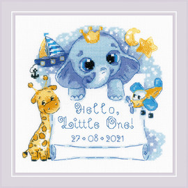 Hello Little One - Boy Counted Cross Stitch Kit by Riolis