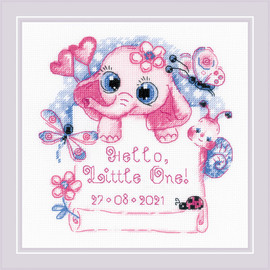 Hello Little One - Girl Counted Cross Stitch Kit by Riolis