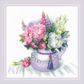 Floral Charm Counted Cross Stitch Kit by Riolis