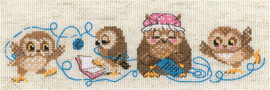 Owl Family Counted Cross Stitch Kit by Riolis
