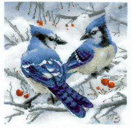 Blue Jays Counted Cross Stitch Kit by Riolis