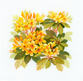 Rhododendron Counted Cross Stitch Kit by Riolis