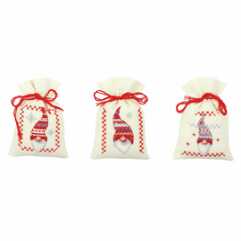 Pot-Pourri Bag: Christmas Elves Cross Stitch Kit by Groves
