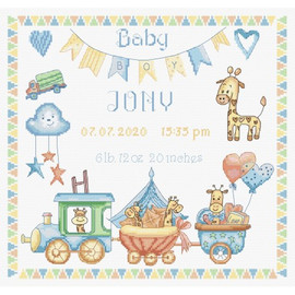Baby Boy Record Cross Stitch Kit by Artibalt