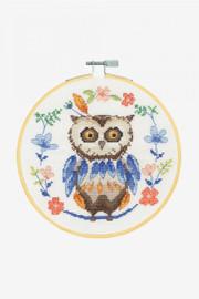Adorable Owl Cross Stitch Kit by DMC