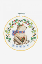 Adorable Bear Cross Stitch Kit by DMC
