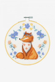 Adorable Fox Cross stitch Kit by DMC