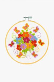 Flying Butterflies Cross Stitch Kit by DMC