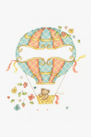 Hot Air Balloon New Baby Cross stitch Kit by DMC
