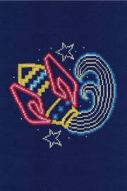 Aquarius Star Sign Cross Stitch Kit by DMC
