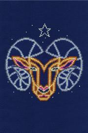 Aries Star Sign Cross Stitch Kit by DMC