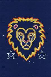 Leo Star sign Cross Stitch Kit by DMC
