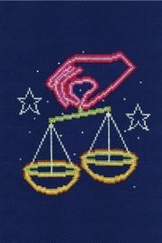 Libra Star sign Cross stitch Kit by DMC