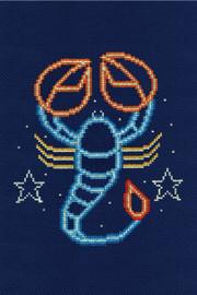 Scorpio Star Sign Cross stitch Kit by DMC