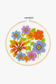 Bright Flowers Cross Stitch Kit by DMC