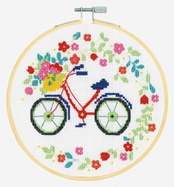 Bicycle Cross Stitch Kit by DMC