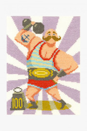 Strong Man Cross Stitch Kit by DMC