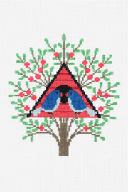 2 Bird House Cross Stitch Kit by DMC