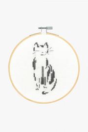 Thoughtful Cat Cross Stitch Kit by DMC