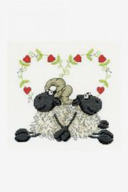 Love You too Cross Stitch Kit by DMC