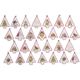 Mini Christmas Trees Counted Cross Stitch By Bucilla