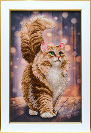 Dreamy Cat Beaded Embroidery Kit By VDV