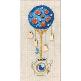 Cup Tree Of Happiness Cross Stitch Kit By RTO