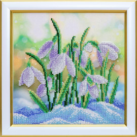 Snowdrops Beaded Embroidery Kit By VDV
