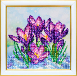 Crocuses Beaded Embroidery Kit By VDV