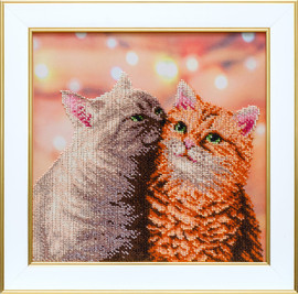 Fluffy Pair Beaded Embroidery Kit By VDV