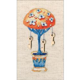 Key Tree Of Happiness Counted Cross Stitch Kit By RTO
