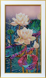 Lotuses Beaded Embroidery Kit By VDV