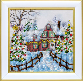 Winter Beaded Embroidery Kit By VDV