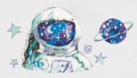 Astronaut Freestyle Embroidery Kit By Panna