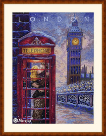 Visit London Counted Cross Stitch Kit By Merejka