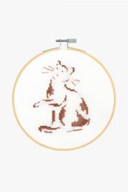 Playful Cat Cross stitch Kit by DMC