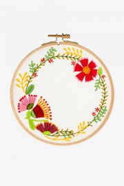 Autumnal Wreath Embroidery Kit by DMC