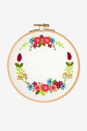 Magical Wreath Embroidery Kit by DMC