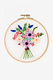 Cosmos Bouquet Embroidery Kit by DMC
