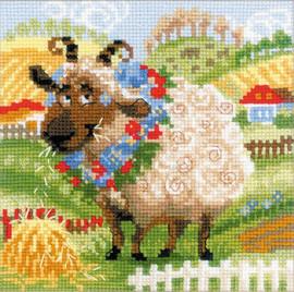 RIOLIS The Farm - Lamb Counted Cross Stitch Kit