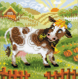 RIOLIS The Farm - Cow Counted Cross Stitch Kit